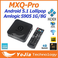 [Genuine] MXQ Pro Amlogic S905 Quad Core Andorid 5.1 CAIXA de TV MXQ-Pro 1000 M LAN 1 GB / 8 GB 2.4 GHz WiFi BT4.0 H.265 Mini PC