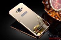 G530 فاخر الذهب تصفيح درع الألومنيوم الإطار + مرآة الاكريليك القضية لسامسونج غالاكسي G5308 Grand Prime G530h G5308w