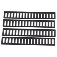 Funpowerland 고품질 사다리 18 슬롯 로우 프로파일 레일 커버 4pcs 팩 블랙 용 핸드 가드 AR15 M4 (DS9525A) 무료 배송