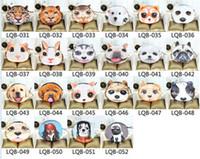 Tête de chat porte-monnaie 3D Caractère animal Meow étoiles gens carte à fermeture éclair clé sacs à main portefeuille sac cosmétique bande dessinée sacs à main cas