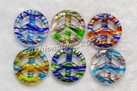 Colliers à suspendre Peace en verre de Murano multicolores # pdt122