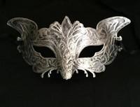 Mode Heren Vintage Eagle Masker Mardi Gras Halloween Maskerade Gents Effen Masker Gentleman Party Christmas Bauta Mask Gold Sliver Gift