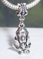 Heet ! 50 stks Antiek Zilver Basset Hound Dog Animal Puppy Dangle Beads Sieraden DIY 36,5 x 14 x 5 mm