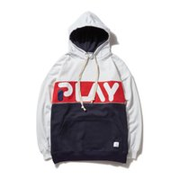 Men Hip Hop PALY Hoodies Fashion Casual Loose Hooded Pullove...