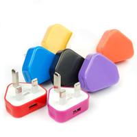 200 Pcs 5 V 1A 3Pin Plug Guage Britânico Viagem Parede USB Power Adapter Carregador Para Samsung Google LG Smartphone Sony E Tablet