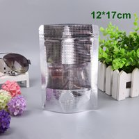 DHL 350Pcs Lot 12x17cm Stand Up Aluminum Foil Bag With Clear...