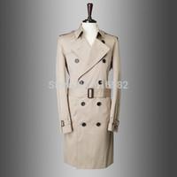 Otoño-ocasional de la marca hombres baratos invierno trench manteau homme guisante capa abrigo chaqueta masculina rompevientos parka casaco masculino 759