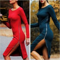 Autumn Winter Women Office Work Dress Sexy Casual Elegant Bo...
