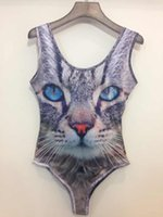 New Summer 2014 Women cat printing 3D One Piece Swimsuit Swi...