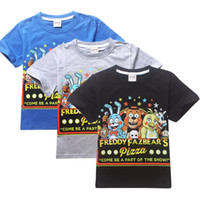 Enfants Cartoon jeu Five Nights at T-shirt en coton à manches courtes Freddy pour garçons filles 10 pcs / lot TM