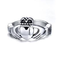 Anello in acciaio inossidabile personalizzato Claddagh Ring in acciaio inossidabile irlandese