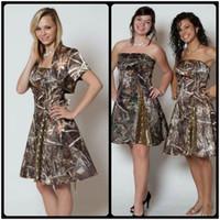 2020 Straplez Kısa Gelinlik Modelleri Ceket Sequins Diz Boyu Backless Kısa Düğün Parti Elbiseler Ülke Camo Gelinlik Modelleri