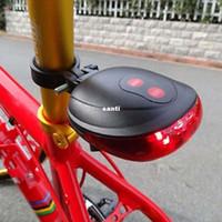 (5LED+2Laser) 7 режим вспышки Велоспорт безопасности велосипед задний фонарь водонепроницаемый велосипед лазерный задний фонарь сигнальная лампа мигает