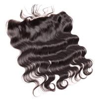 Dentelle Frontal Brésilien Hair Oread Fermetures de Top (4 * 13 '') Vierge Human Cheveux Teins Body Wave 8-20 pouces Naturel Bellahair
