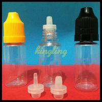 PET E-líquido Frasco cuentagotas Frasco E Frasco líquido 5 ml 10 ml 15 ml 20 ml 30 ml 50 ml Botellas de plástico para eGo EVOD E Kits de inicio de cigarrillos