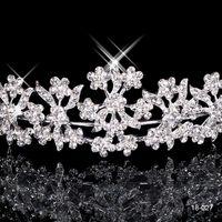 18027 spedizione gratuita strass di cristallo festa di nozze prom homecoming corone fascia principessa da sposa diademi accessori per capelli moda su misura