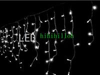 120 LED3.5Mカーテンのアイキクルライトクリスマスウィッシュパーティーデコ。ルミナリア8モード110V 220V送料無料