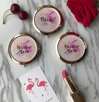 Personalized Bridesmaid gifts compact mirror for birthday we...