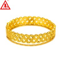 24K Yellow Gold Plated Bangles Brand New Fashion Jewelry Hol...