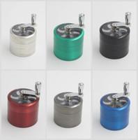 56 мм 4layers Zicn сплав ручные кривошипные шлифовальные машины для шлифовки металлов для травы травяные шлифовальные машины для табака DHL бесплатно