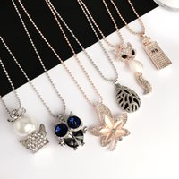 South Korea fashion jewelry necklace pendant long sweater ch...
