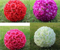New 28cm 11 Inch Artificial Silk Roses Wholesale Red Color R...