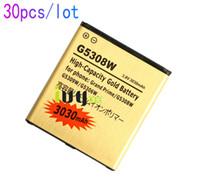 30 قطعة / الوحدة 3030 مللي أمبير EB-BG530BBC استبدال البطارية الذهب لسامسونج غالاكسي الكبرى رئيس G5308W G5309W G5306W G530 G8309W بطاريات Batterij