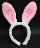 Cosplay de Halloween Accesorios Kawaii Bunny Ears Headbands Encantador Largo Conejo Ear Headbands Fancy Prom Party Jewelry para adultos niños M26