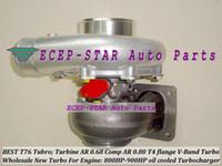 أفضل T76 تعديل شاحن توربو العالمي. التوربينات: A / R 0.68 Comp: A / R 0.80 800HP-900HP T4 شفة V-Band المبردة بالزيت الشاحن التربيني