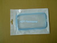 Polybag ile asın delik Packaging Çanta Kılıf Fermuar Kilit Takı Ambalaj Şeffaf + Beyaz Plastik Ambalaj Poşet Öz Mühür Fermuar