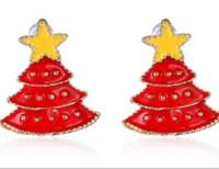 مزيج 10Pairs / Lot نمط عيد الميلاد القرط استيلاد للموضة الأزياء والمجوهرات هدية EA009 شحن مجاني