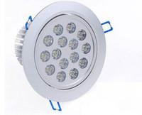 15W LED-Decken-Downlight 85-265V + Treiber Nicht-dimmbare helle Lampe Hohe Lumen-Silber-Scheinwerfer Warmweiß Natürliches weißes kühles Weiß CE ROSH