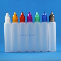 30ml 플라스틱 유니콘 Dropper 병 펜 모양 젖꼭지 E 액체 100 조각 / 많이 저장을위한 고품질 소재
