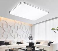 Dimmable moderno levou luz de teto iPhone acrílico luminária luminária quadrada superfície montada lâmpada para cozinha quarto de crianças
