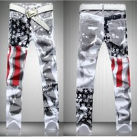 Free Shipping American Flag Men Jeans   Cotton   men' s ...