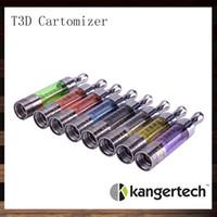 Kanger T3D Clear Cartomizer Kangertech T3D Clearomizer colorato con doppie bobine riutilizzabili intercambiabili