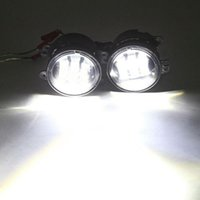 랭글러 무제한에 대 한 4 인치 LED 안개 빛 JK 닷지 크라이슬러 크리 어 18W 프런트 범퍼 12V 24V 6500K 자동차 운전 안개 램프