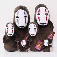Dışarıda Yüzsüz Dolması Doll Hayao Miyazaki çizgi film Spirited Peluş Yumuşak Toys 10-33cm Ücretsiz Kargo Ruhların Kaçışı