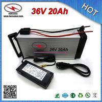 БЕСПЛАТНАЯ ДОСТАВКА (1 шт.) 36 Вольт Литиевая аккумуляторная батарея 36 В 20 Ач для электрических велосипедов с задней стойкой 18650 ячеек 10S 30A Зарядное устройство BMS 42V2A