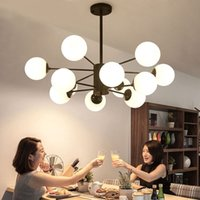 Newest Modern Glass Bubble Ball Pendant Light Industrial Bea...