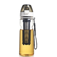 Portable Plastic Water Bottle with Lid, Tea Infuser and Rope,...