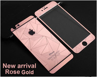2016 New Colored Tempered Glass 3D Diamond Mirror Screen Pro...