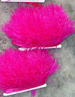 Free Shipping 10 yards lot hot pink ostrich feather trimming...