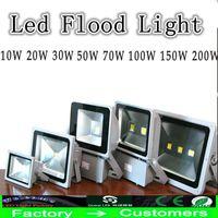 小売屋外LEDのフラッドライト10W 20W 30W 50W 70W 100W 150W 200Wの防水暖かい白クールな白い穂軸の景観洪水ライトの壁洗浄ライト