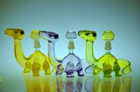 USA Colored dinosaur Glass Oil rigs bong dab rig in vetro fumano tubi d'acqua con tagli a fessura