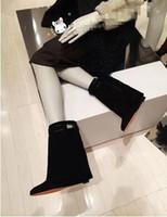 Nuove donne di design di marca stivali di lusso nero rosso bianco elegante pelle stivali invernali stivali tacchi alti zeppa scarpe donna grande formato 42 botas mujer