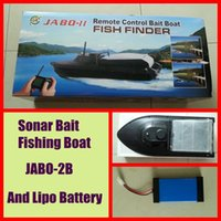 Newest JABO- 2BL JABO 2BS Sonar Bait Fishing Boat  w Fish Fin...