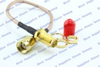 50 unids / lote RP SMA Plug a RP SMA Jack Coaxial Goldplated Adapter Connector 15 cm RG316 Extension Pigtail Cable Cord Envío gratis