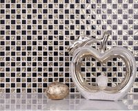 Złoto czarny kolor lustro mozaika kryształ metalowy mozaiki płytki tv tło wzór płytki podłogi mozaika montażowa siatka
