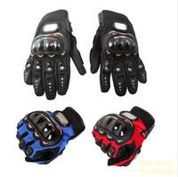Gran venta !! 1 par negro deportivo moto motocicleta guantes de malla tridimensional transpirable tejido de malla guantes de verano cuero popular